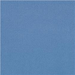 Brushed Poly Lycra Jersey Knit Solid Cerulean Blue