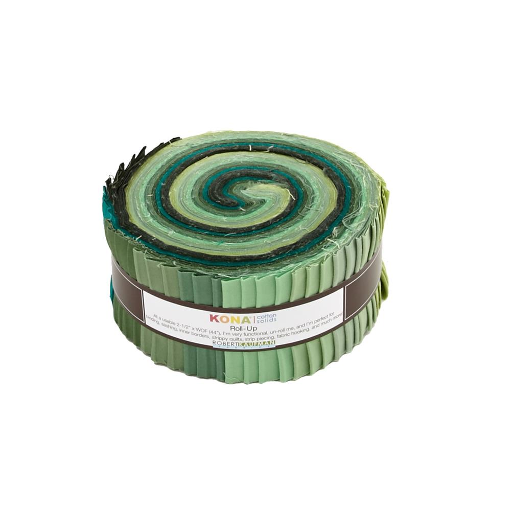 "Kaufman Kona Solids Spring Meadows 2.5"" Jelly Roll"