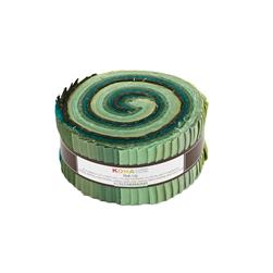 "Robert Kaufman Kona Solids Spring Meadows 2.5"" Jelly Roll"