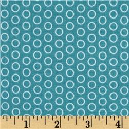 Riley Blake Circle Dot Teal