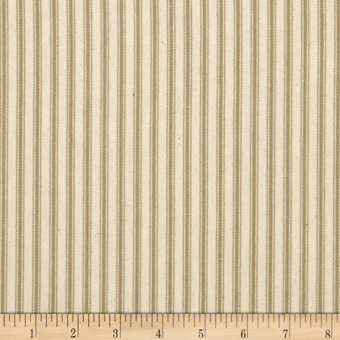 "44"" Ticking Stripe Taupe"