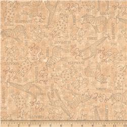 Wild Things Animal Sketches Tan