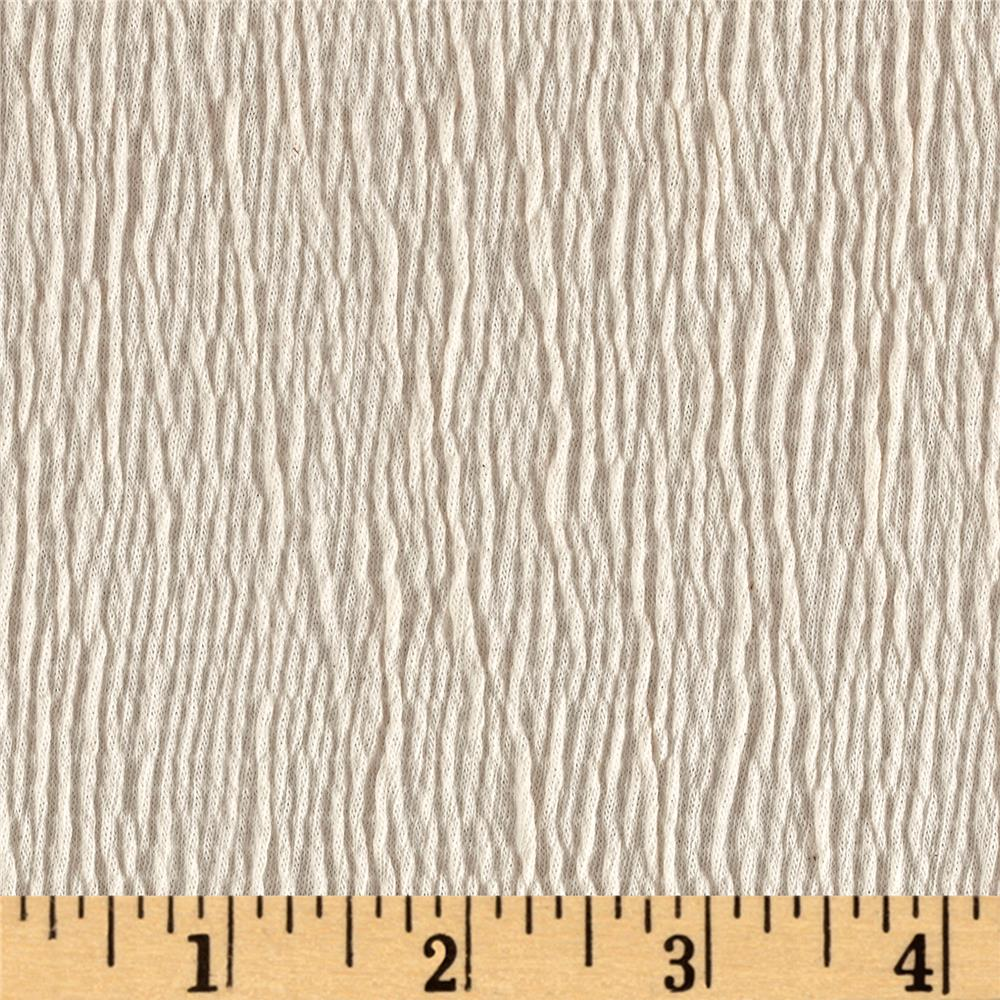 Smocked cotton stretch knit ivory discount designer for Cheap cloth material
