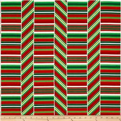 Kanvas Deck the Halls Peppermint Stripe Red/Green/White