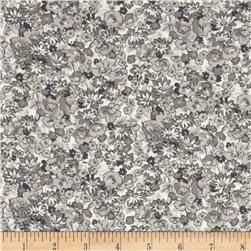Kaufman London Calling Lawn Floral Grey