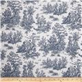 Premier Prints Jamestown Toile Premier Navy