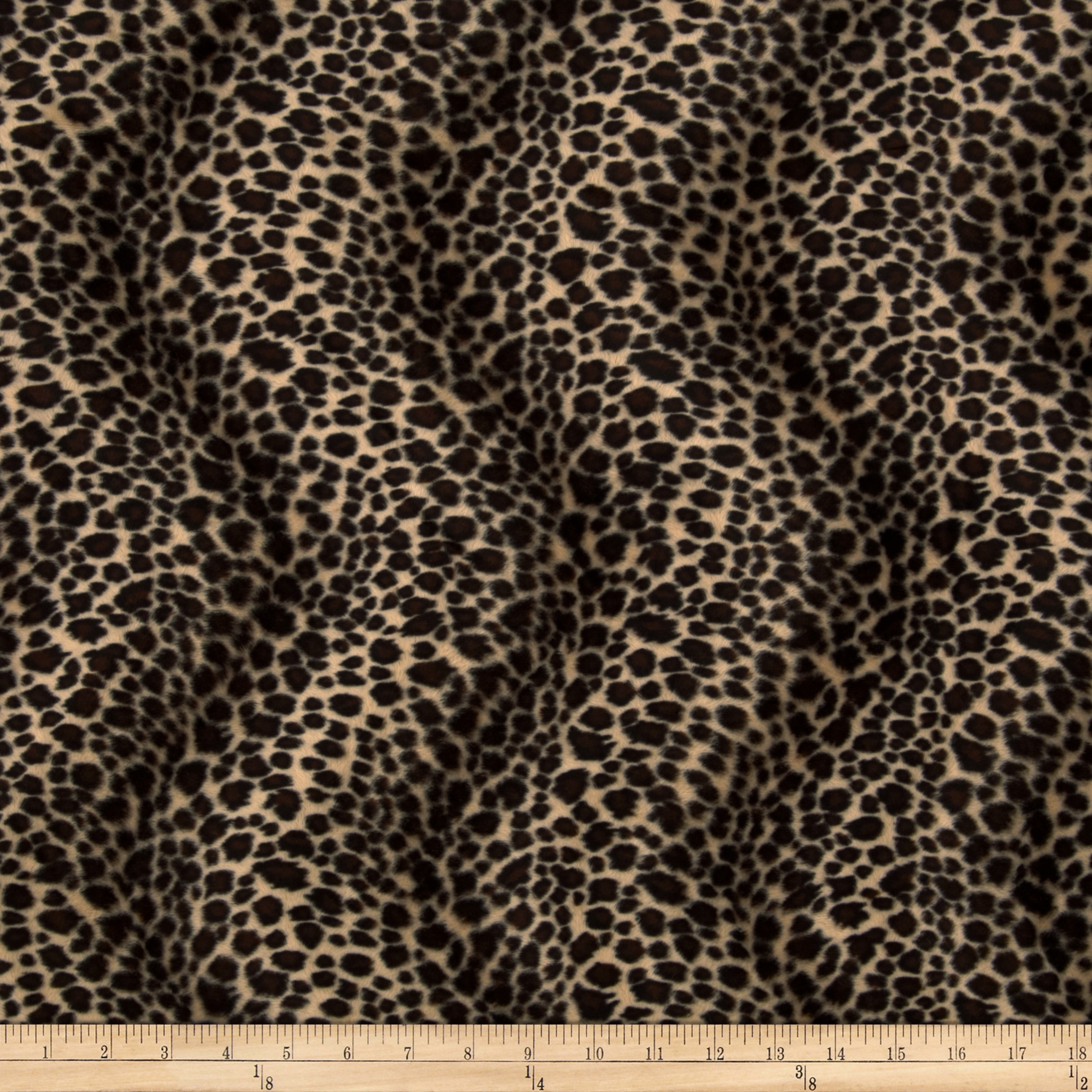 Velboa Faux Fur Cheetah Brown Fabric