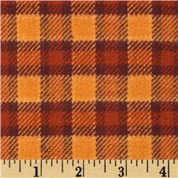 Cozy Yarn Dye Flannel Medium Plaid Pumpkin
