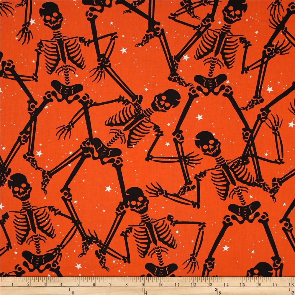 Gothic Glam Metallic Them Bones Orange