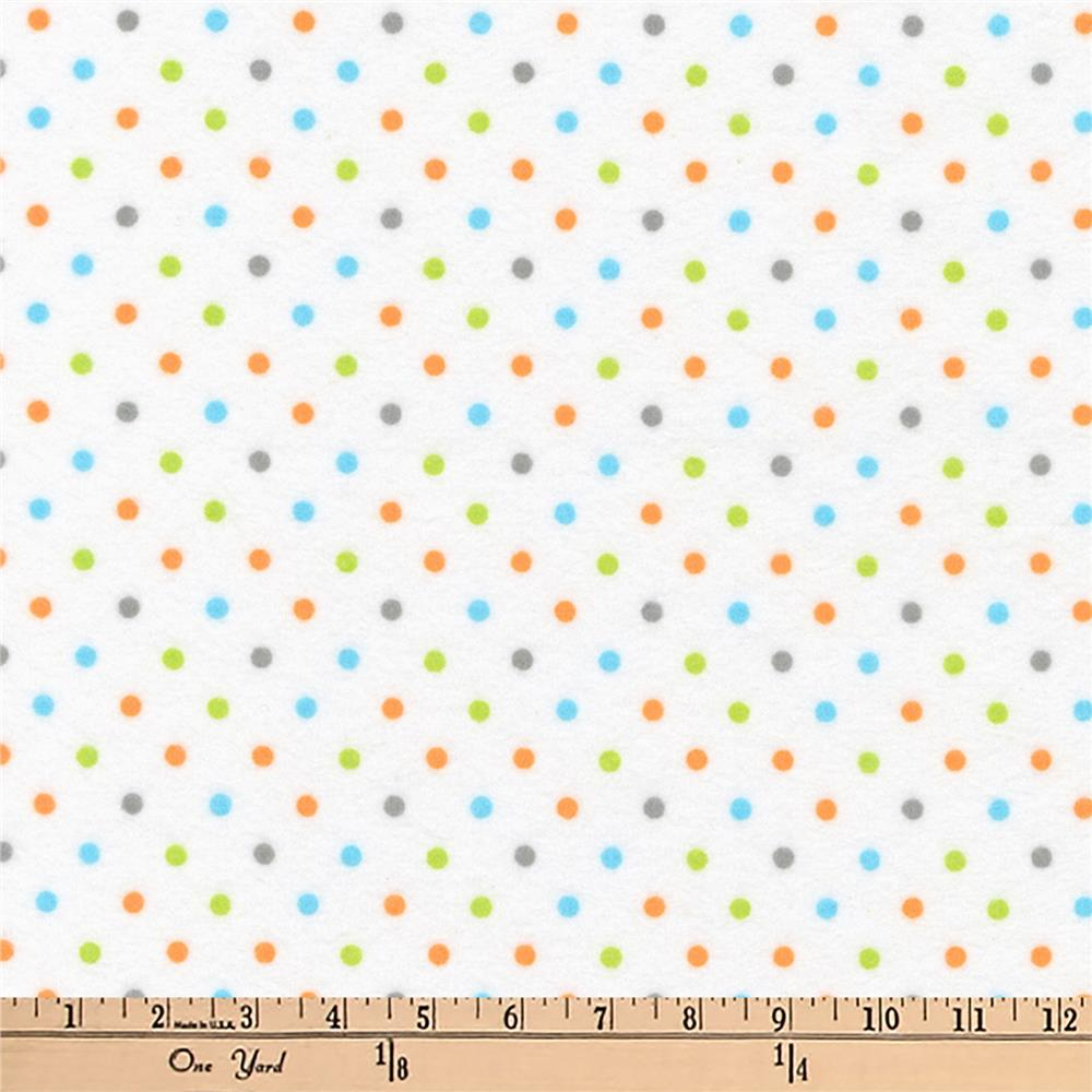 Kaufman Cozy Cotton Flannel Dots Bermuda Fabric