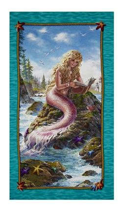 "Artworks II Digital Mermaid 24"" Panel Multi"