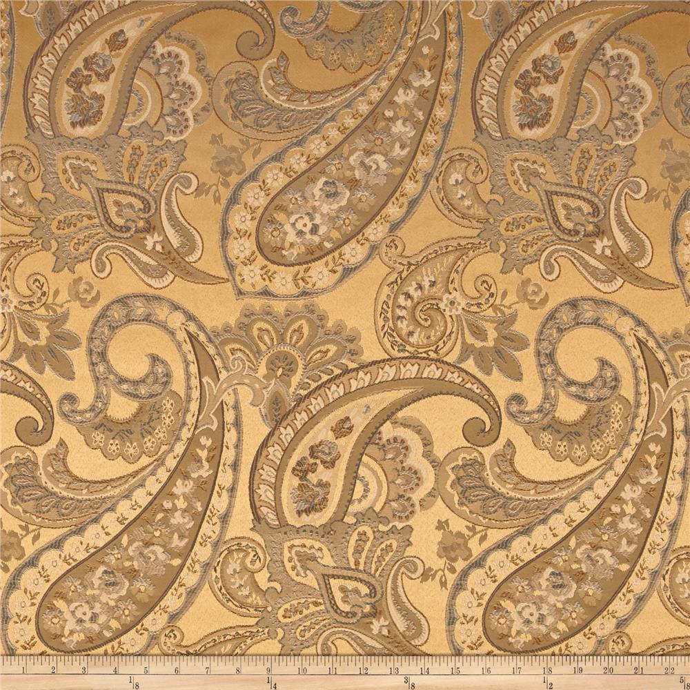 Eroica candytuft paisley jacquard cappuccino discount for Jacquard fabric