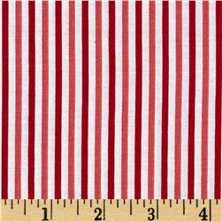 Riley Blake Merry Matryoshka Stripe Red