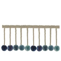 "French General 3.5"" Lautrec Ball Fringe Bleu"