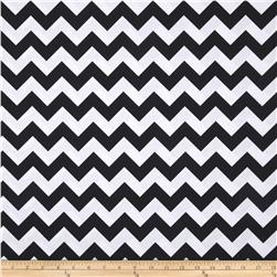 Riley Blake Wide Cut Chevron Medium Black Fabric