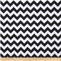 Riley Blake Wide Cut Chevron Medium Black