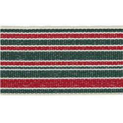 1 1/2'' Grosgrain Stripes Red/Green/Ivory