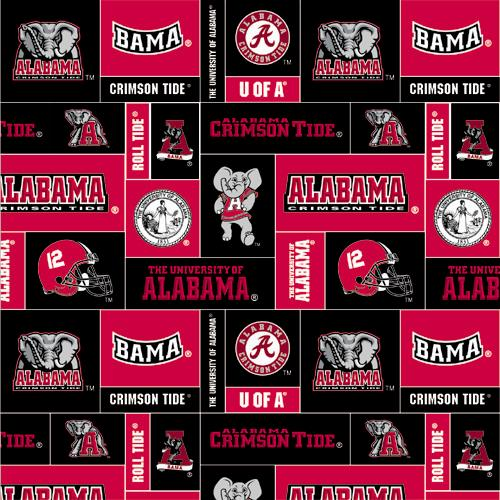 Collegiate Fleece University of Alabama Blocks