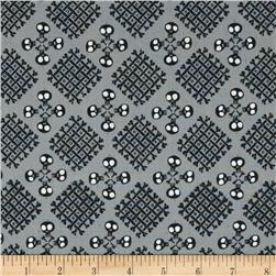 'dem Bones Organic Checkerbone Black/Grey Fabric