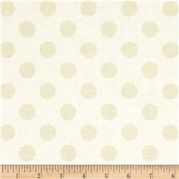 Riley Blake Le Creme Basics Medium DotsTone on Tone Cream