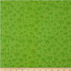 Flamingo Road Palm Tree Green Fabric