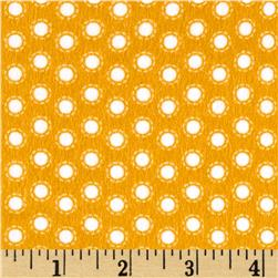 Riley Blake Little Ark Flannel Dot Orange