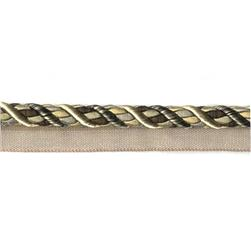 1/2'' Tricolor Lip Cord Black/Gold