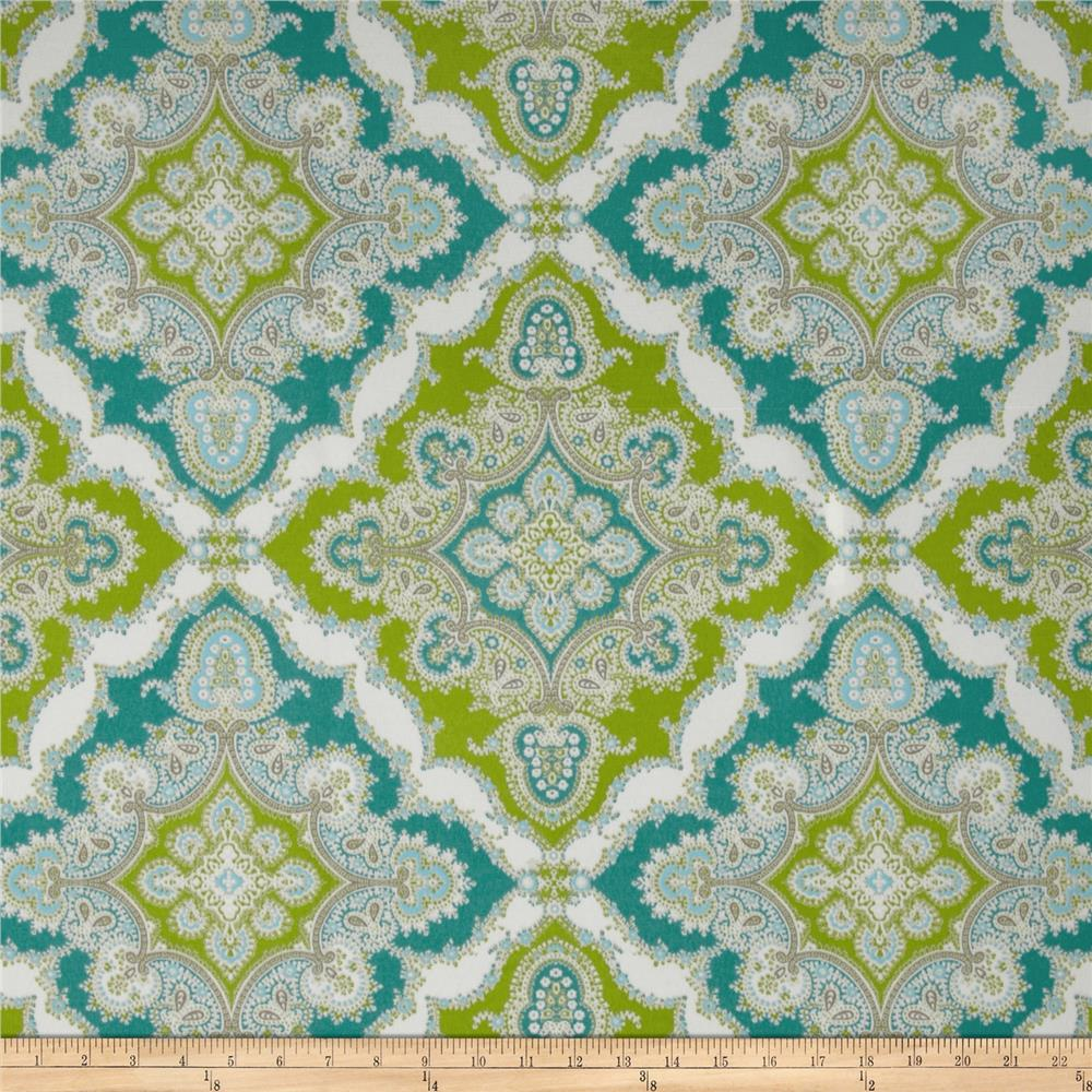 P kaufmann indoor outdoor zoie turquoise discount for Outdoor fabric