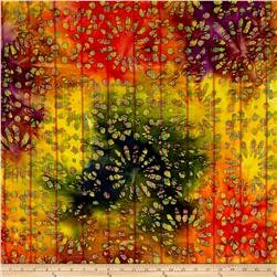 Indian Batik Kaleidoscope Daisy Multi