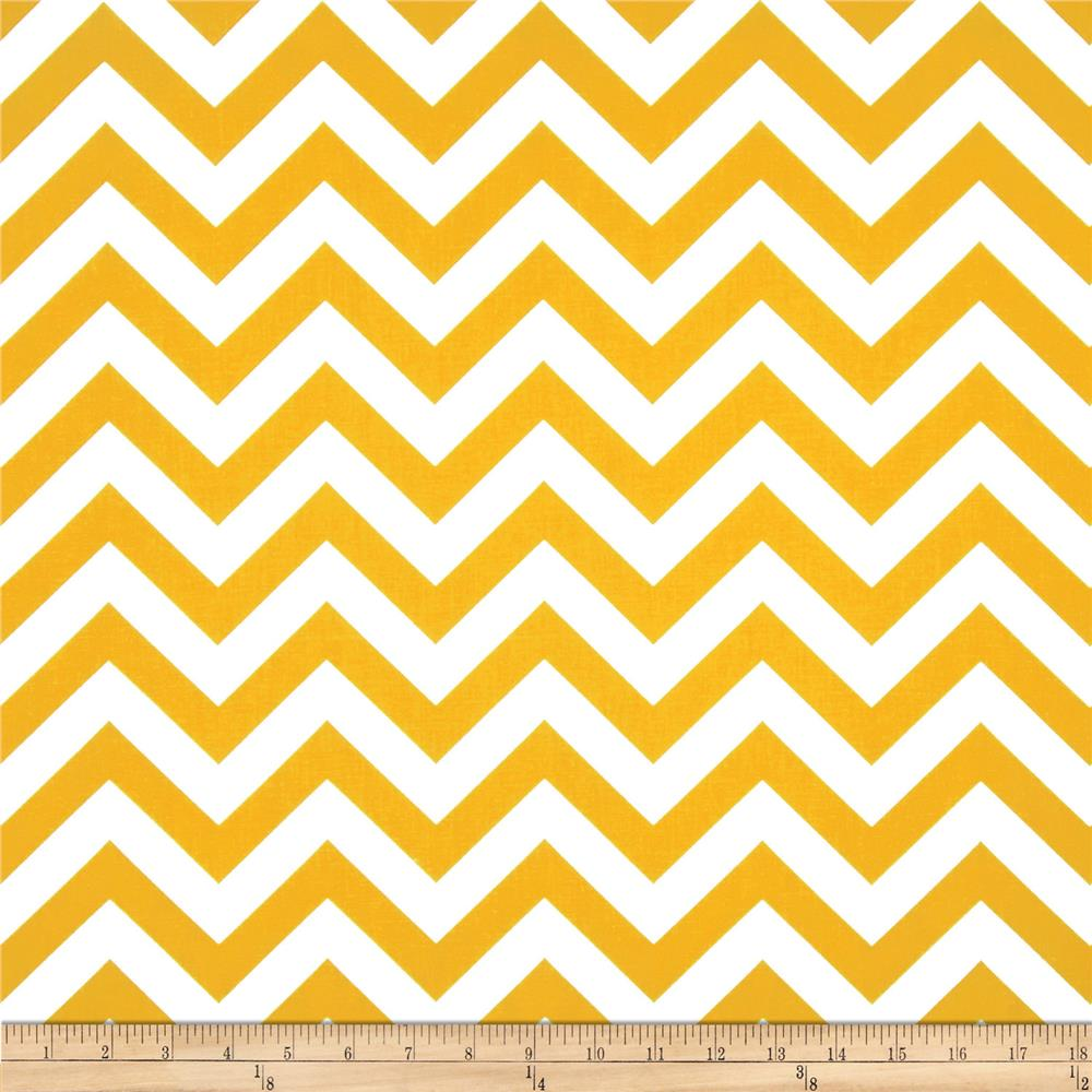 Premier Prints Indoor Outdoor Zig Zag Yellow