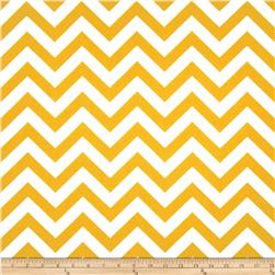 Premier Prints Indoor/Outdoor Zig Zag Yellow Fabric