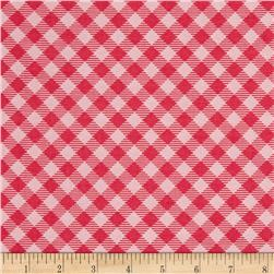Riley Blake Bee Basics Gingham Raspberry