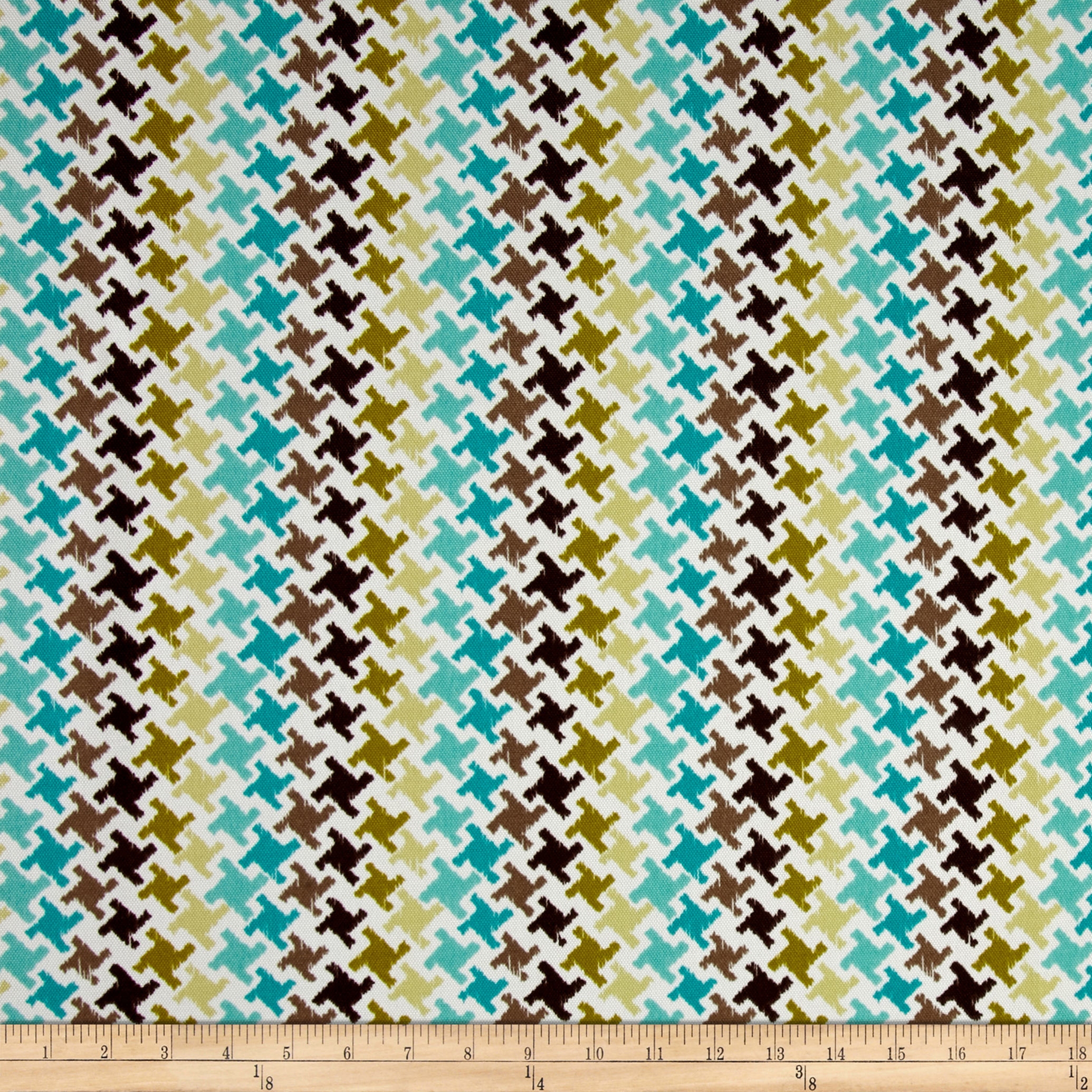 Terrasol Indoor/Outdoor Highland Teal Fabric by Tempro in USA