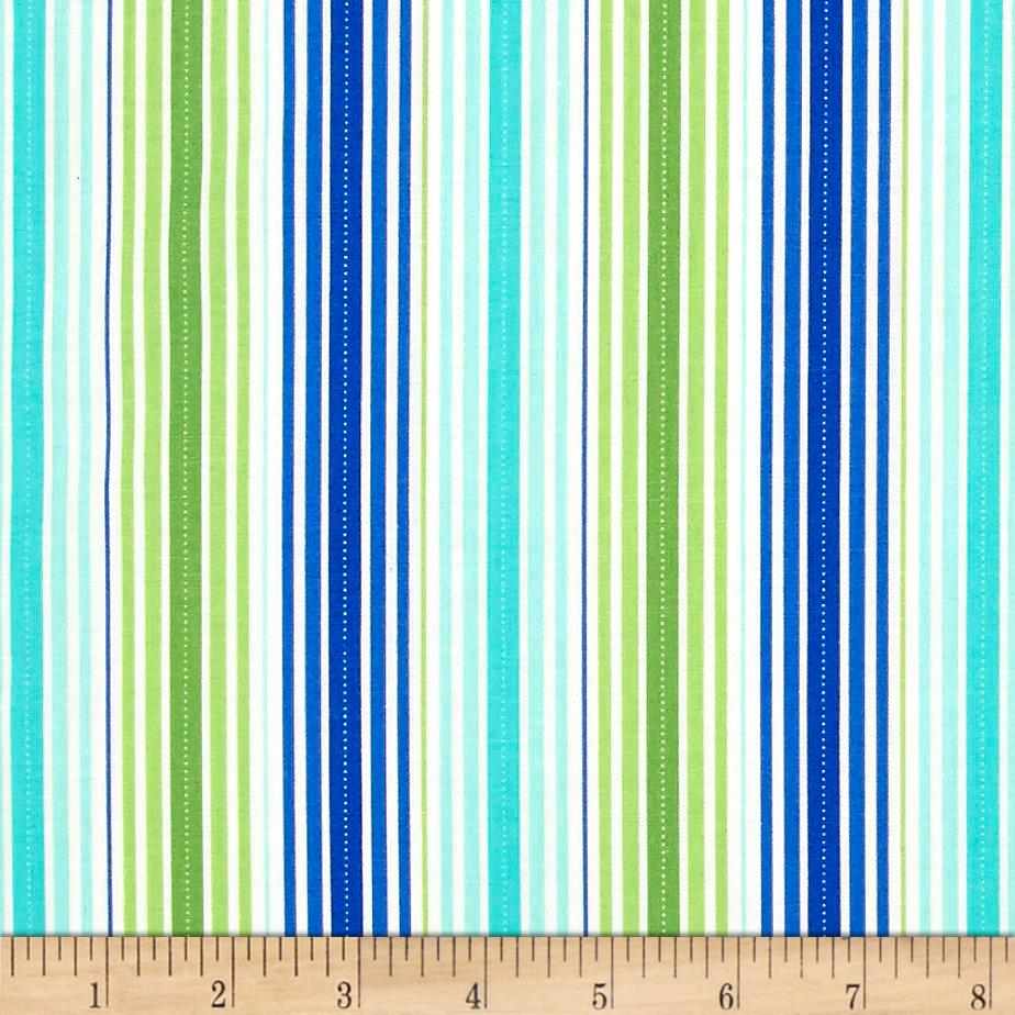 Moda rainy day it 39 s pouring stripe blue green discount for Green fabric