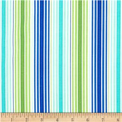 Moda Rainy Day It's Pouring Stripe Blue/Green