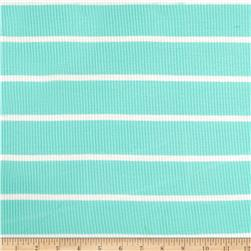 4X2 Rib Knit Stripe Mint/Ivory