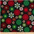 Kanvas Deck the Halls Metallic Let it Snow Black