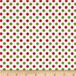Riley Blake Christmas Basics Small Dots Christmas Fabric
