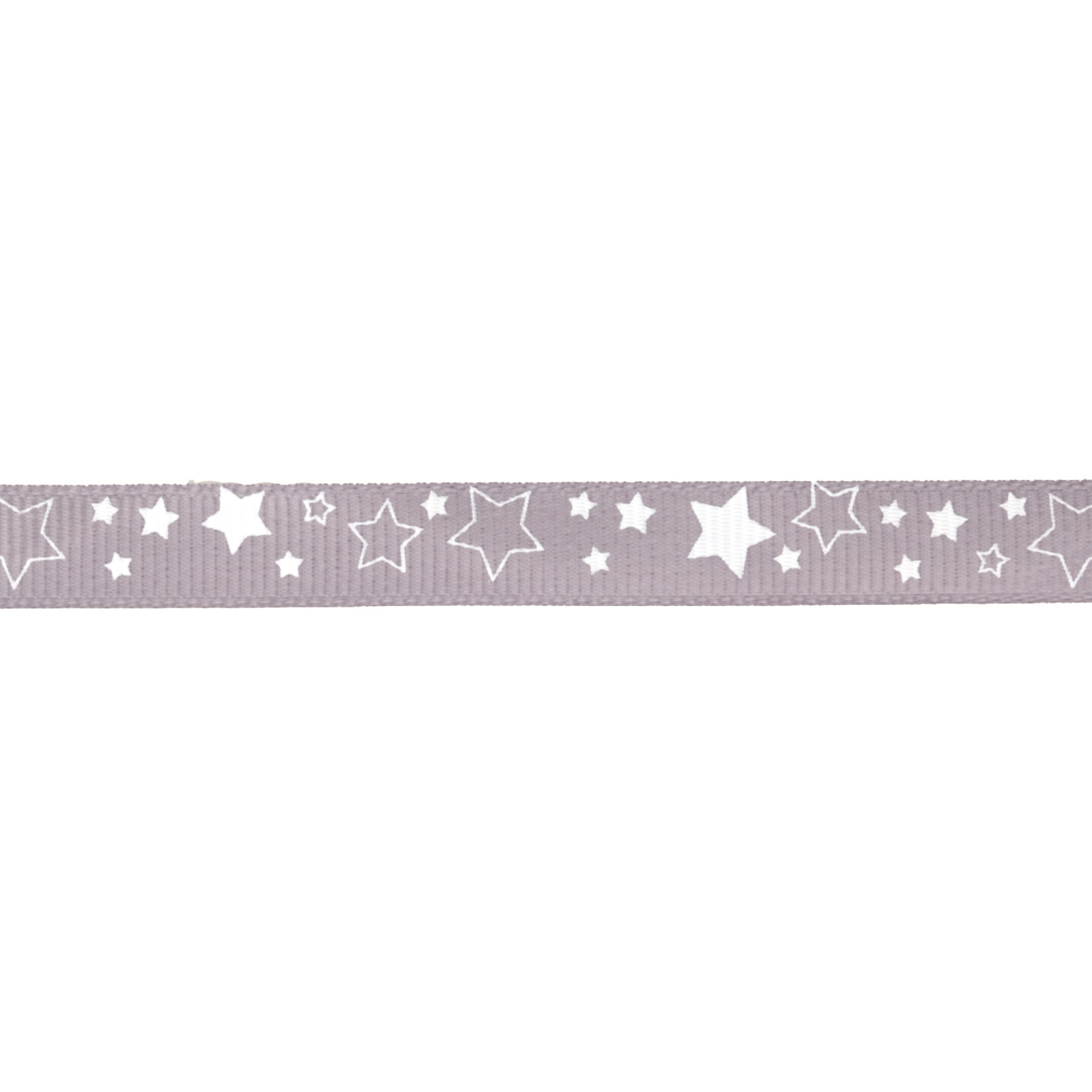 Riley Blake 3/8'' Grosgrain Ribbon Stars Grey