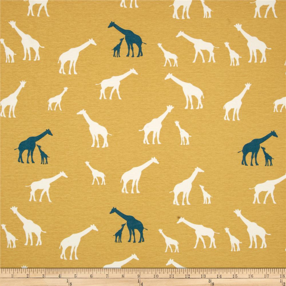 Birch Organic Serengeti Interlock Knit Giraffe Family Sun
