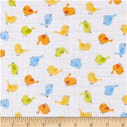 Gauze & Effect Double Gauze Little Birdies Multi