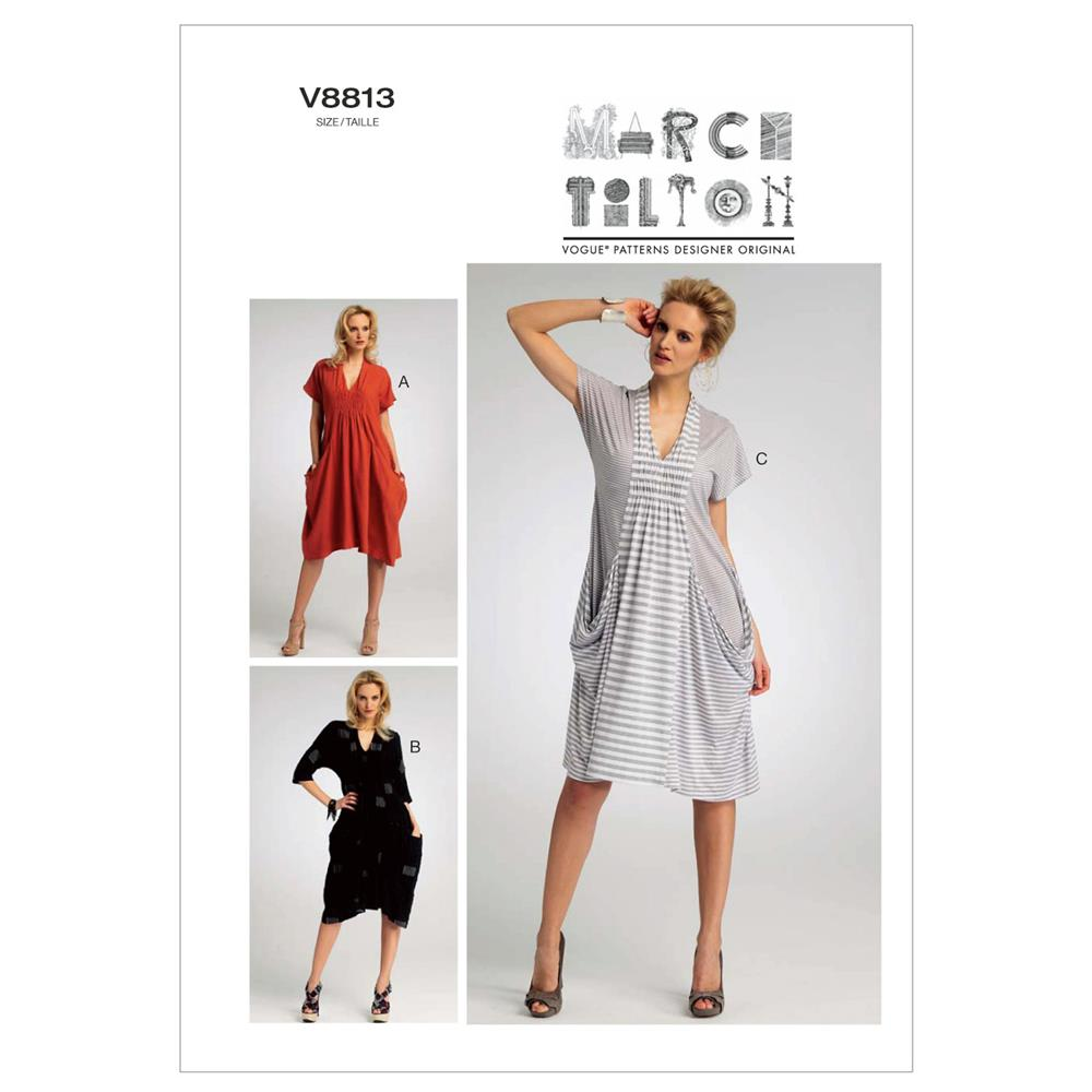 Vogue Misses' Dress Pattern V8813 Size 0Y0