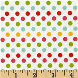 Riley Blake Small Dot White/Multi Fabric