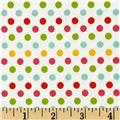 Riley Blake Small Dot White/Multi