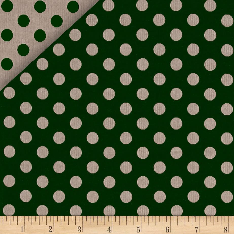 Chanel Reversible Poplin Polka Dot Green/Cream