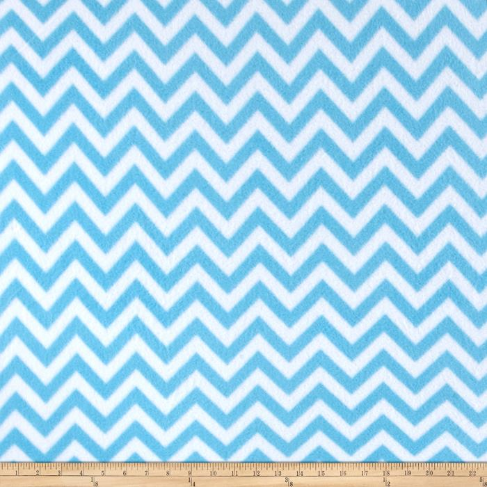 Simply Chic Fleece Chevron Blue