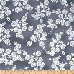 Mary May Metallic Foil Floral Smoke/Silver