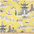 Waverly Peaceful Temple Chintz Lemongrass