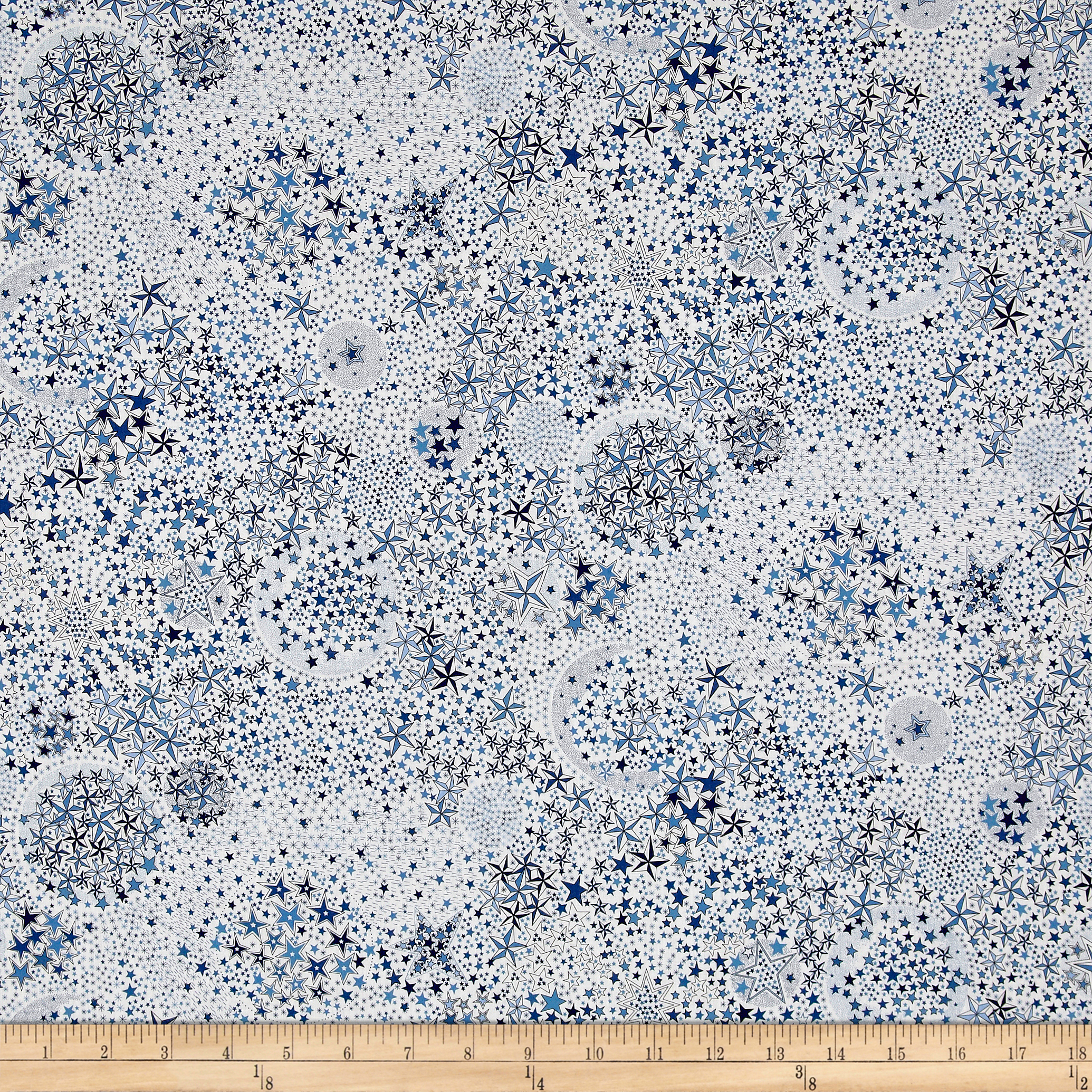 Liberty of London Contemporary Classic Tana Lawn Adelajda White/Blue Fabric by Liberty Of London in USA