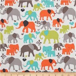 Michael Miller It's A Boy Thing Elephant Walk Dirt Brown